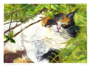 pet portrait cat painting