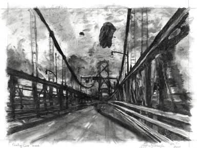 Bridge and Floating Cars