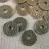 Perles rondelle martelé bronze 11mm coupelle intercalaire - lot de 15
