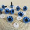 Yeux de sécurité bleu 10mm rond pour amigurumi poupée - lot de 10