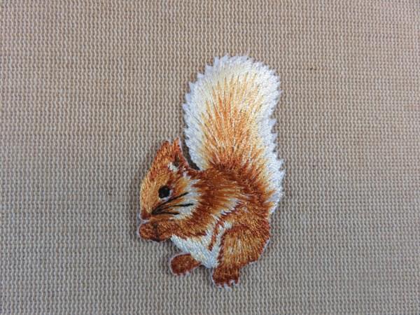 écusson écureuil thermocollant patch animaux forêt