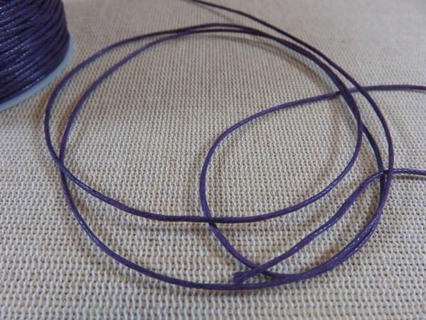 Fil cordon violet 1mm - vente par 10 mètres