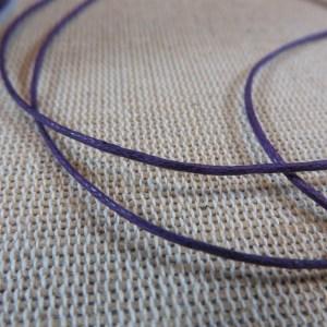 Fil cordon violet 1mm – vente par 10 mètres