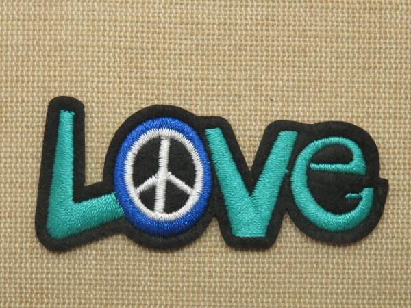 Patch LOVE peace & love écusson thermocollant à repasser