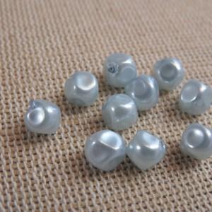 Perles facetté grise 6mm en acrylique – lot de 24
