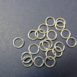 Anneaux de jonction 6mm argenté en métal ouvert – lot de 50