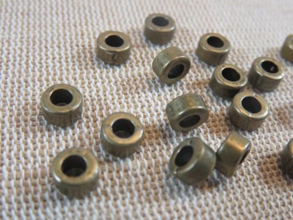 Perles rondelle entretoise bronze 6mm - lot de 15