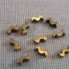 Perles hématite vague doré 7x3mm intercalaire - lot de 20