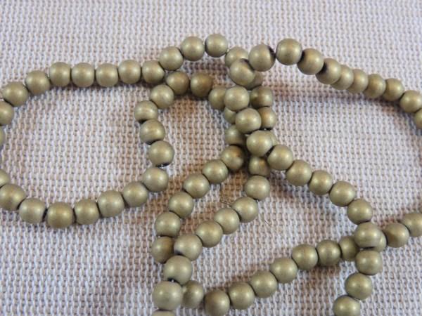 Perles hématite Or 4mm ronde - lot de 20