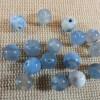 Perles Agate 6mm bleu craquelé feu ronde - lot de 10 Pierre de gemme