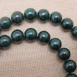 Perles Malachite AA 8mm pierre de gemme – lot de 10