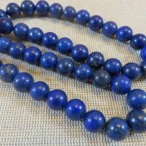 Perles Lapis lazuli 8mm ronde bleu – lot de 10 Pierre de gemme