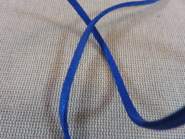 Cordon suédine bleu 3mm - vendu par 4 mètres