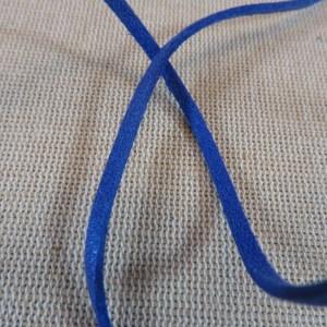 Cordon suédine bleu 3mm – vendu par 4 mètres