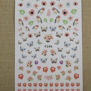 Nails-Art stickers papillon autocollant décoration d'ongle