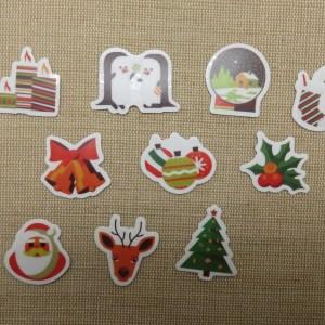 étiquettes autocollant Noël stickers scrapbooking / 25pcs