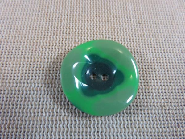 Boutons bombé vert 23mm rond - lot de 2 bouton de couture UnionKnopf