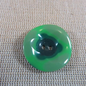 Boutons bombé vert 23mm rond – lot de 2 bouton de couture UnionKnopf