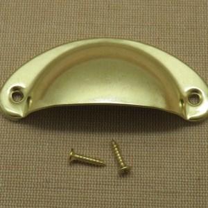 Poignée tiroir doré demi-cercle bouton de porte placard style rétro
