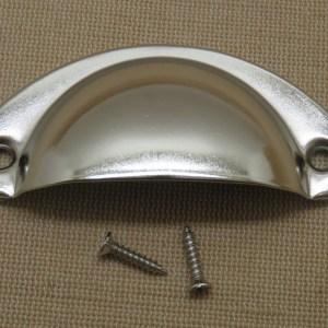 Poignée tiroir argenté demi-cercle bouton de porte placard style rétro