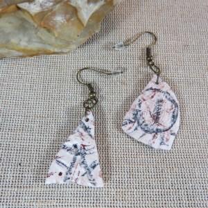 boucles d'oreille tribal géométrique en pâte polymère – bijoux femme