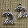 Pendentifs Tête d'Aigle argenté 22mm en métal - lot de 2