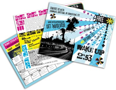 Book Layout - WakeUp253 Quarterly Zine