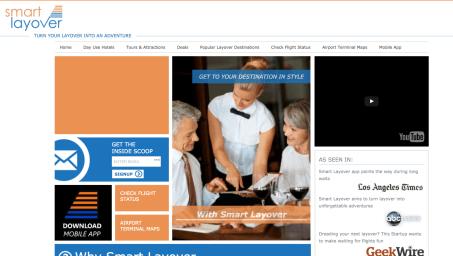 Web Design - SmartLayover Flight App
