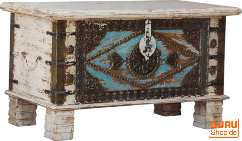 vintage wooden box wooden chest coffee table coffee table made of solid wood decorated model 43 45x80x40 cm