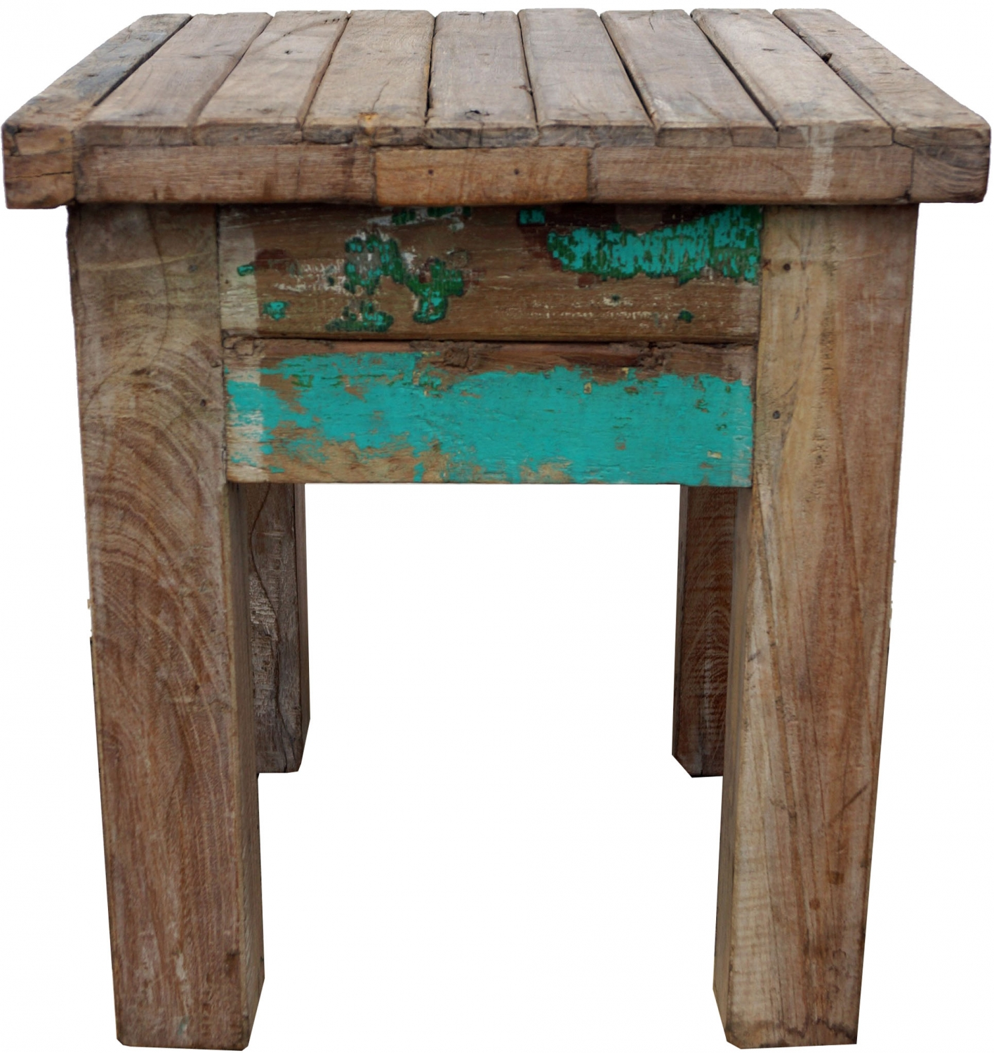 vintage coffee table coffee table made of recycled wood model 17 45x40x40 cm