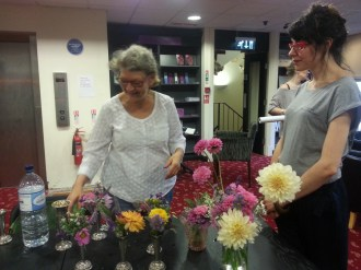 Ruth Moushabeck supplies amazing flowers for Liz Murton's Tea Party