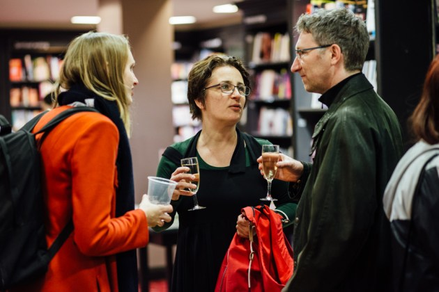 Visitors at the ALL Waterstones Opening