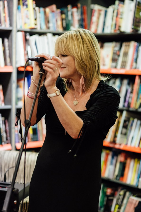 Stella Hensley performing live music with Chris Newman
