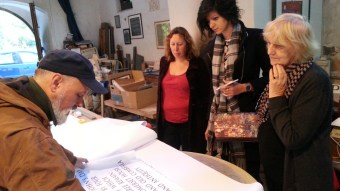 Eric Marland shows us his studio...
