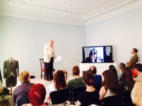 Dan Cruickshank talking at Sotheby's