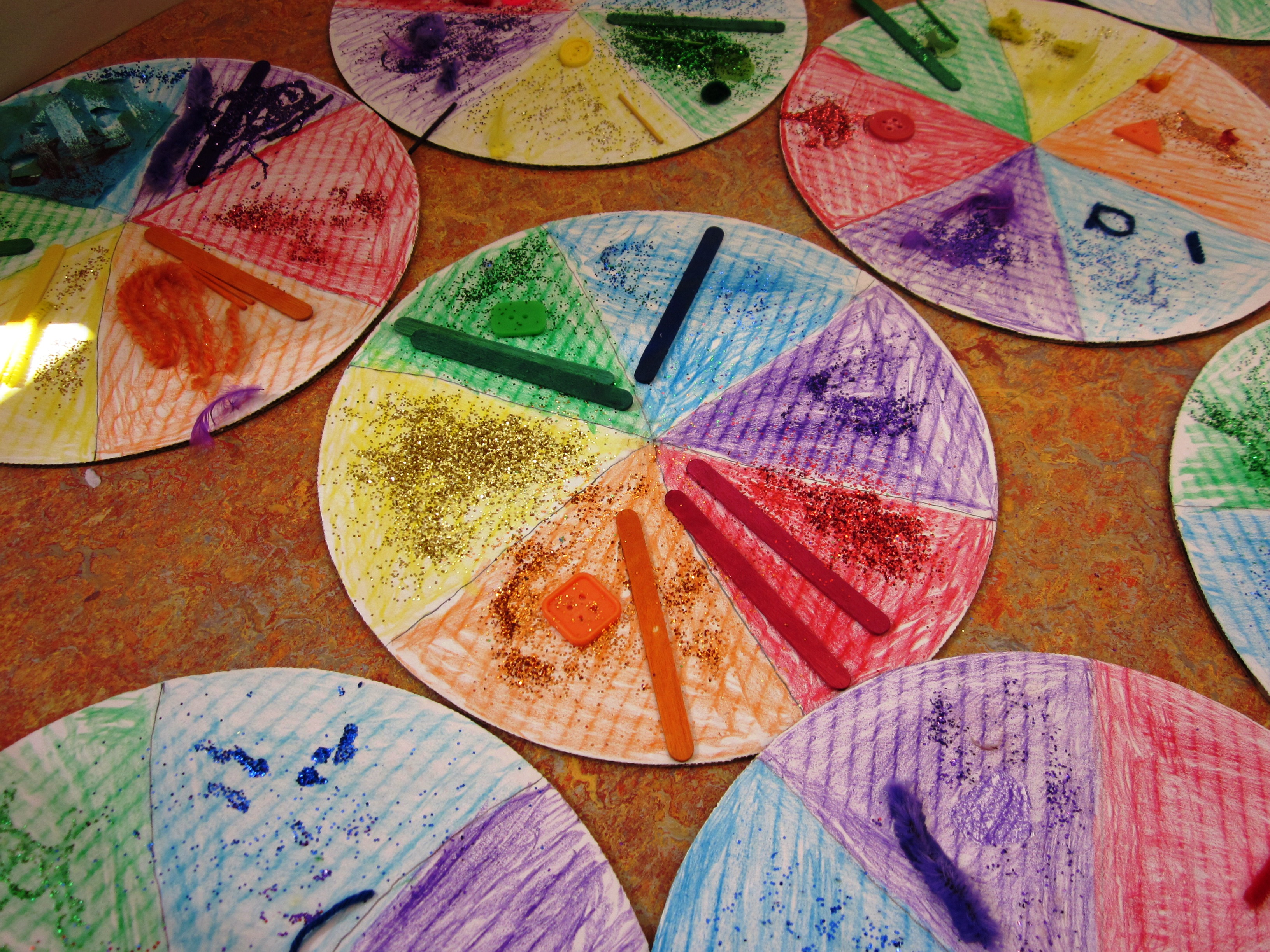 Delicious Color Wheel Pizzas In Grade Two