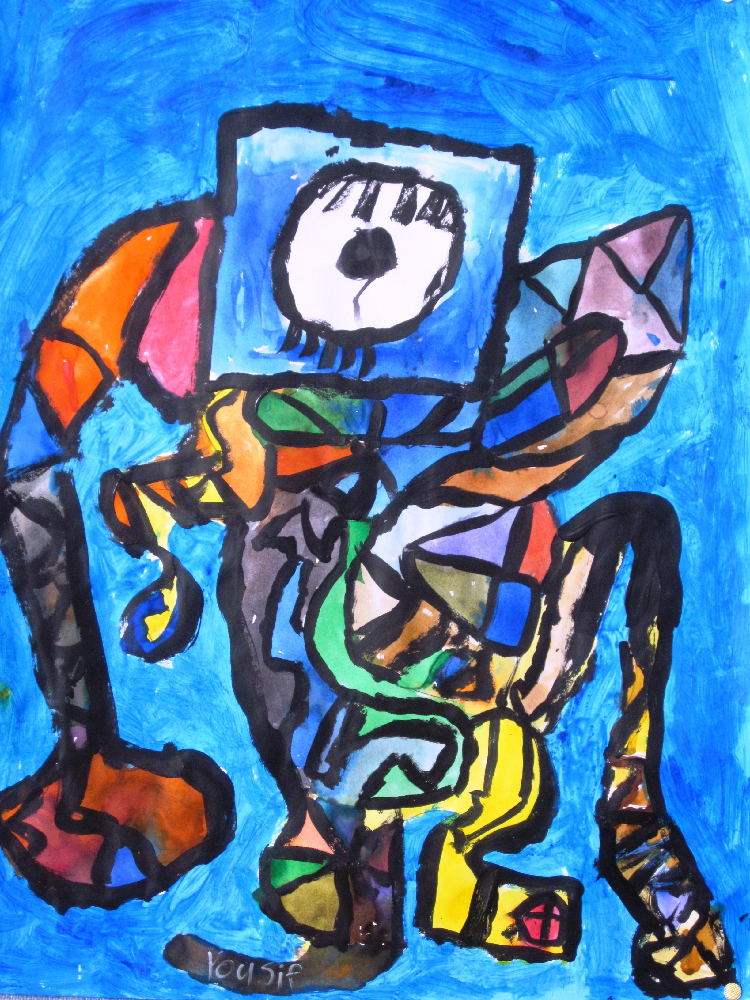 Abstract Art In Grade Three
