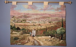 Road to Jerusalem, Tapestry by Alex Levin