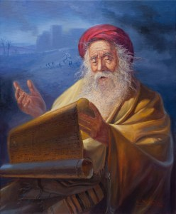 Jeremiah the weeping prophet, Painting by Alex Levin