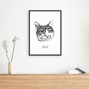 Illustratie van jouw huisdier
