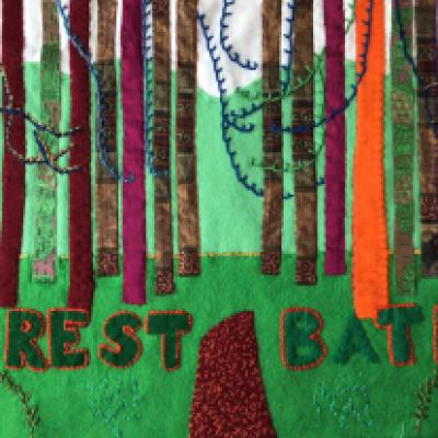 Hockney forest piece