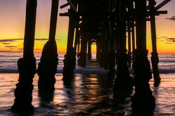 Sunset Under Crystal Pier Fine Art