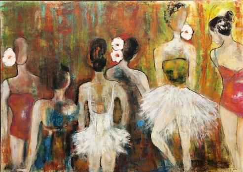Intermedio (Intermediate) - Mixed Media on Canvas
