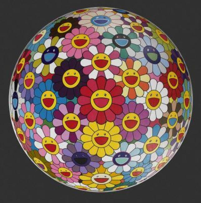 Takashi Murakami's famous contemporary art piece Flower Ball