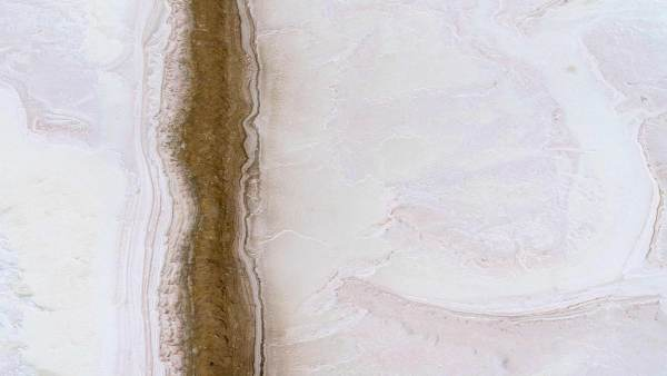 Fine art aerial photography of salt flats by Tom Lamb