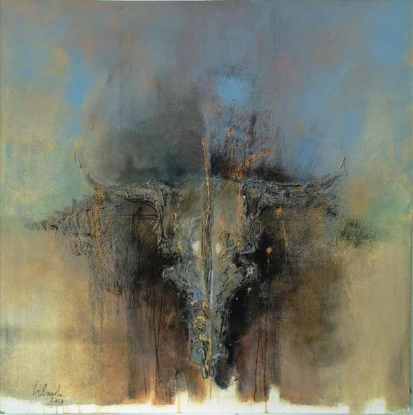 Texas II original fine art painting by Libuse Wiesendanger