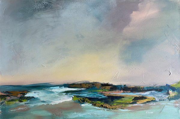 Pastel Seascape of La Jolla Cove. Original artwork by Karla Preciado