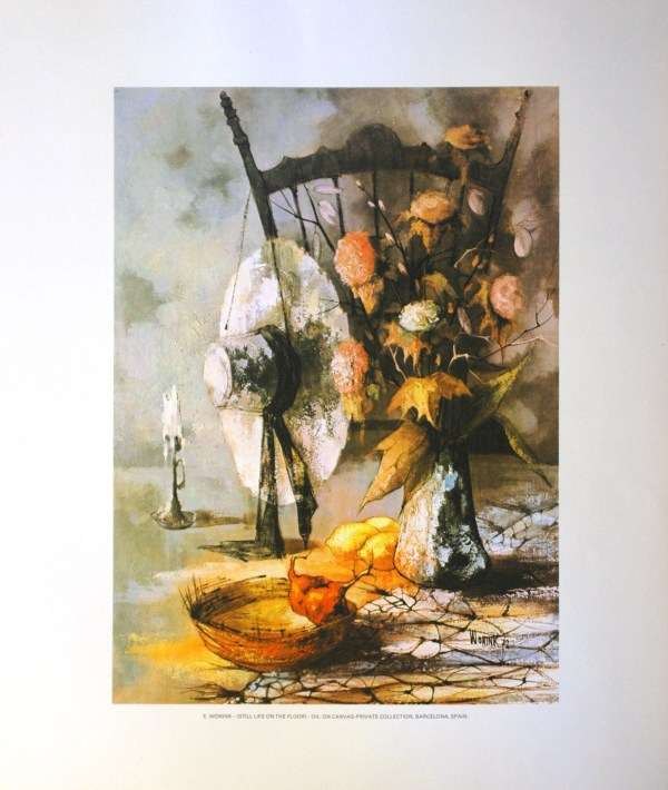 E WONINK - STILL LIFE ON THE FLOOR (LITHOGRAPH)