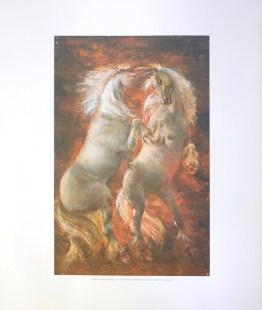 VILMON - WHITE HORSES (LITHOGRAPH)