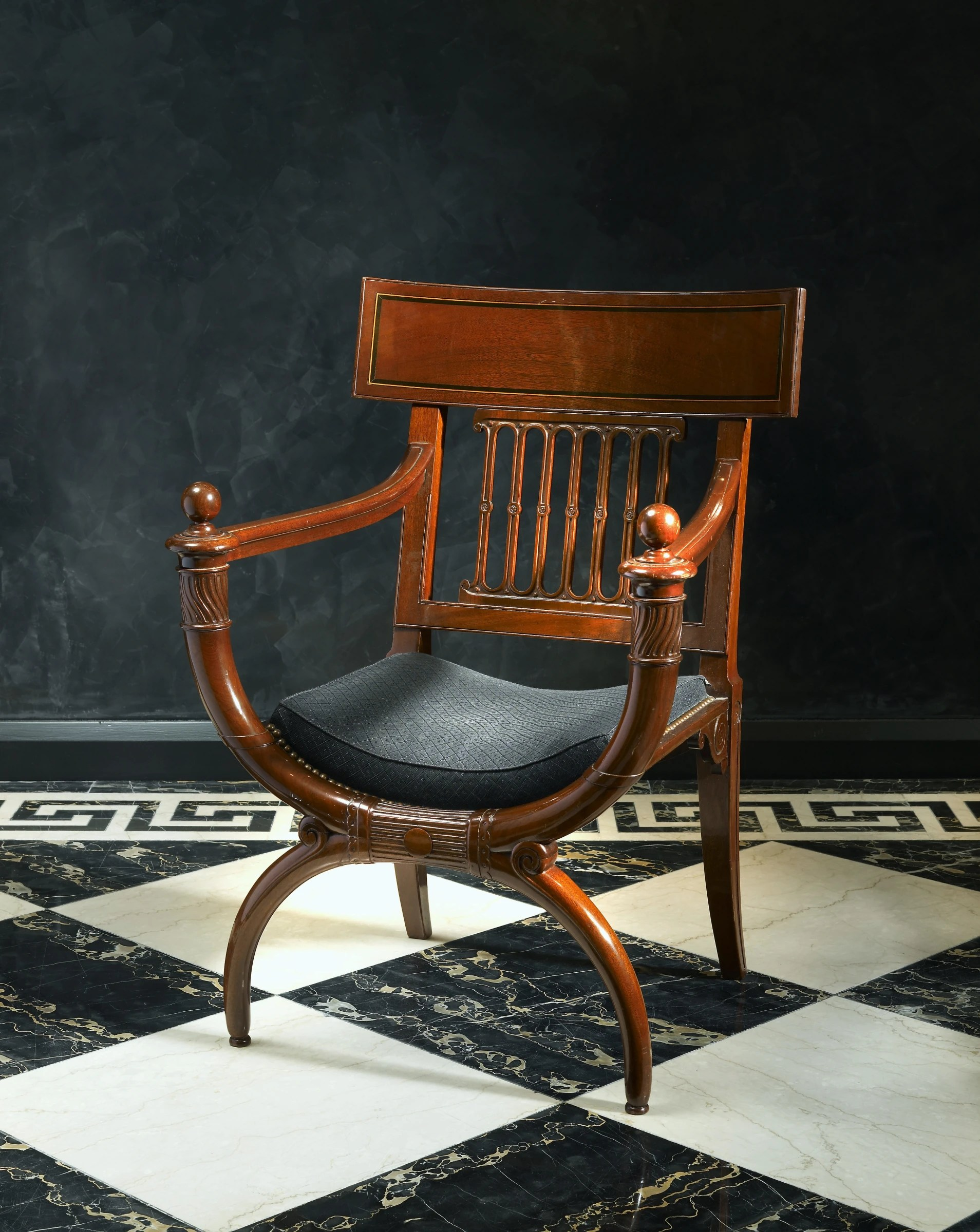 a directoire fauteuil attributed to
